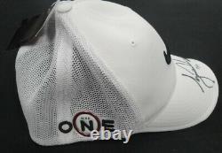 Tiger Woods Signé Autographié Nike Victory Swoosh Logo Chapeau Chapeau Uda 14/25