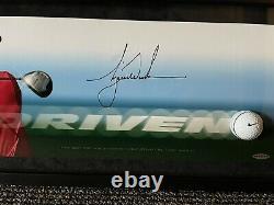 Tiger Woods Uda Deck Supérieur Signé Autographe Breaking À Travers La Photo Très Rare