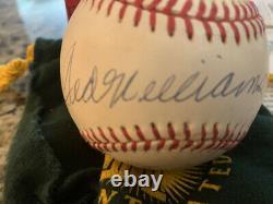 Triple Couronne Mantle Williams, Yaz & Robinson Signé Autographié Baseball Uda Box