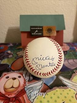 Triple Couronne Uda Signé Baseball Mickey Mantle Ted Williams Yaz Robinson 10/49