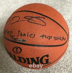 Uda Kevin Durant Autographe Signé Game Basketball Rookie /135 Sonics Top Pick