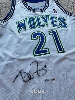 Uda Kevin Garnett Autographe Signé Rookie Jersey 95/96 Mitchell Ness Le/121