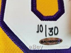 Uda Kobe Bryant A Signé Lakers Jersey Auto Autograph Upper Deck Le Black Mamba La