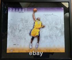Uda Kobe Bryant Encadré16x20 Signé La Lakers Autographe 5/100 Rare Photo