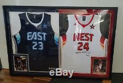 Uda Kobe Bryant Lebron James A Signé Allstar Jersey Auto Autograph Upper Deck Le