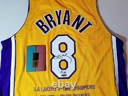 Uda Kobe Bryant Signé Lakers Jersey Auto Auto Auto Upper Deck Le Black Mamba La