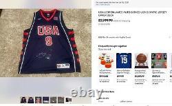 Uda Lebron James Auto Signé USA Olympic Jersey High Deck