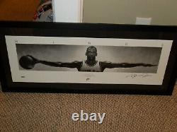 Uda Michael Jordan Autographed Wings Poster Ltd Ed. # 500 Taille 41 X 17 Avecpsa/dna