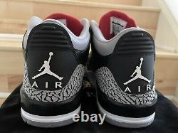 Uda Michael Jordan Signé Auto Ds Nike Air Jordan 3 Black Cement 3/23 Hof 2009