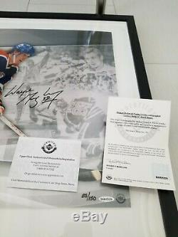Uda Upper Deck Michael Jordan Wayne Gretzky Auto Signé 36x18 Photo Encadrée / 150