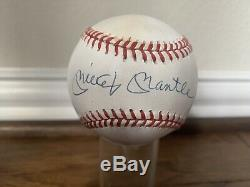 Upper Deck Assermentée Uda Mickey Mantle Yankees Autographe Baseball Lht