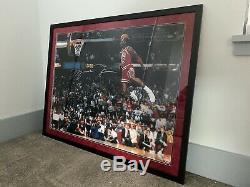 Upper Deck Michael Jordan Autograph 1988 Slam Dunk Photo 30 X 40 Encadré Uda Coa
