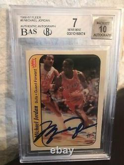 Upper Deck Uda Michael Jordan Rookie Sticker Autograph 86 Fleer Rc Bas 7 Auto 10