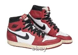 Vinatge Michael Jordan 1 Original Retro Signed Shoes Upper Deck Authentic Uda