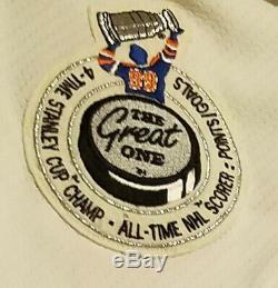 Wayne Gretzky The Great One Oilers Auto Authentique Jersey Uda Autograph