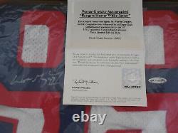 Wayne Gretzky Uda Signé New York Rangers White Starter Auto Jersey Autographe
